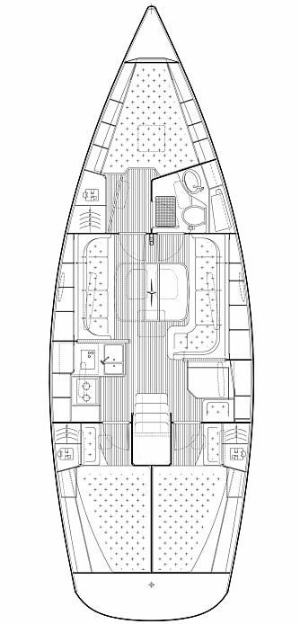 TRADISJONELL: Testbåten har tre luagerer med bade forut. Det gjør det mulig med tradisjonelt kartbord.