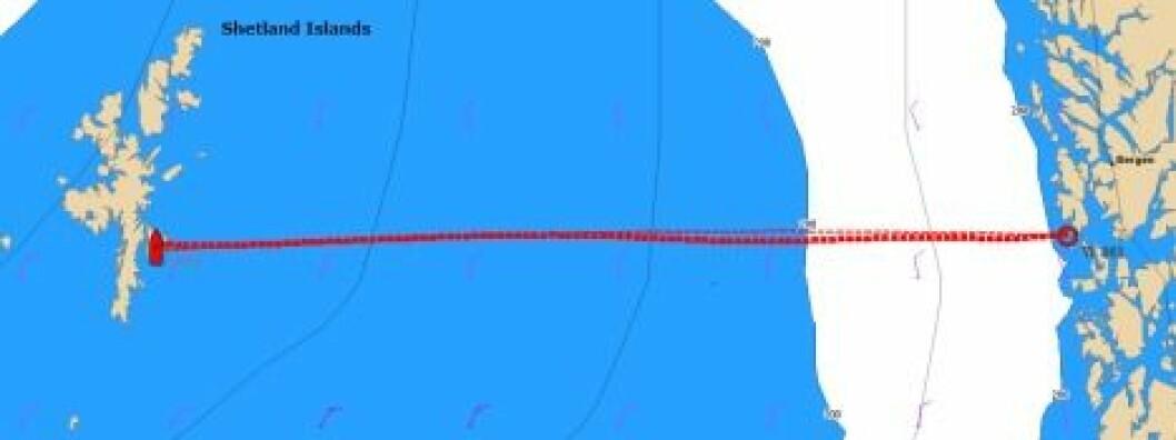 Shetlandstrikken klar til avgang