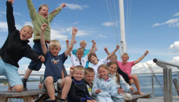Optimistisk, jublende seilglede på sommerkurs