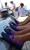 Italienske proffseilere bruker norske sko