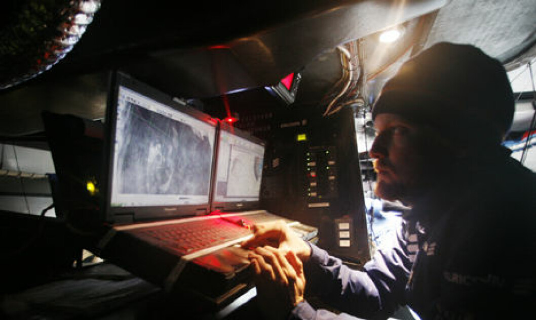 For EDITORIAL USE only, please credit: Gustav Morin/Ericsson 3/Volvo Ocean RaceNavigator Aksel Magdahl checks the weather onboard Ericsson 3, on leg 5 of the Volvo Ocean Race, from Qingdao to Rio de JaneiroThe Volvo Ocean Race 2008-09 will be the ...
