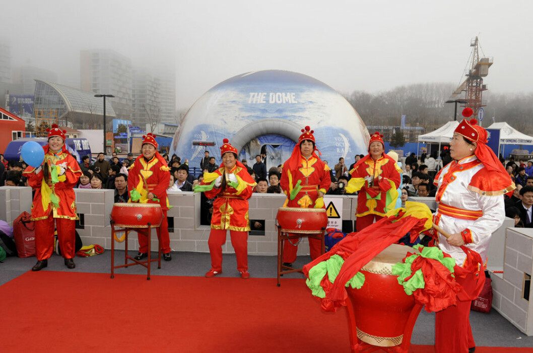 For EDITORIAL USE only, please credit: Rick Tomlinson/Volvo Ocean RaceThe Volvo Ocean race fleet are greeted by an amazing welcome from the Chinese people in Qingdao at the finish of leg 4 of the Volvo Ocean Race. Drums, fireworks and the Emperors ...