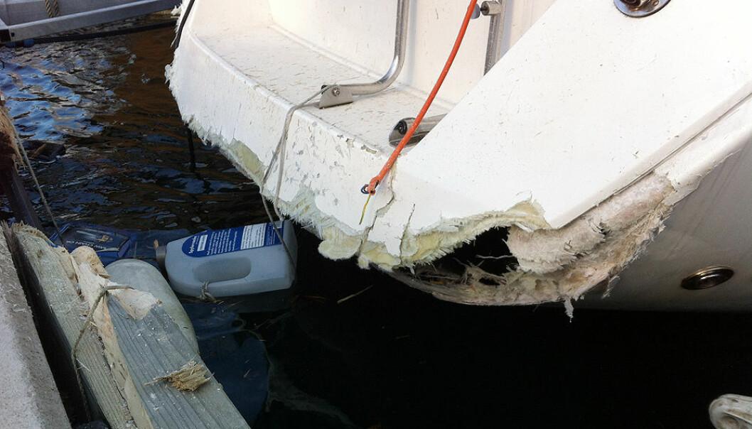 Mange båter ble skadet i fjor sommer, men skader skjer også om vinteren