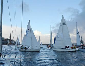 Vårlig nyttårsregatta i Stavanger