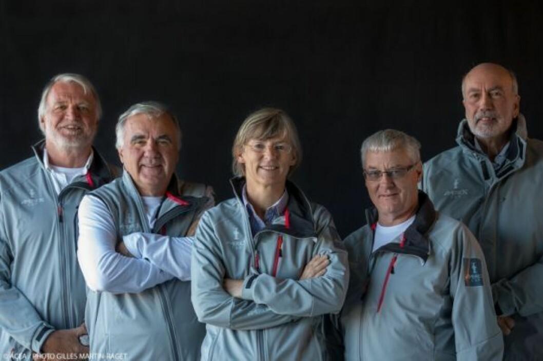 AC  juryen: fra v. John Doerr, Graham McKenzie, Josje Hofland, David Tillett og Bryan Willis. foto ACEA / Gilles Martin-Raget.