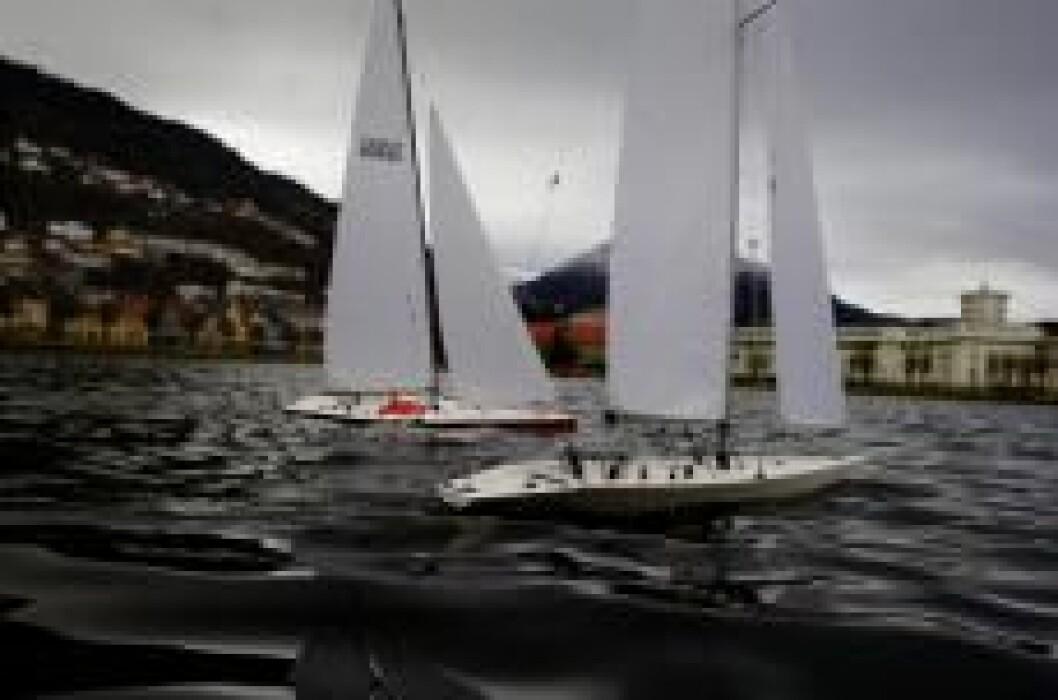 Modellbåter på LIlle Lungegårdsvannet. Foto: Bergens Tidende