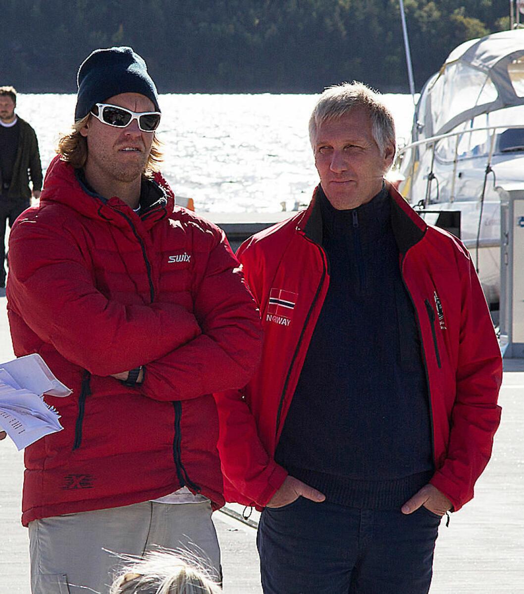 SJEF: Espen Guttormsen er opptatt av å høyne kompetansenivået over hele Norge. Her sammen med regattasjef i Oslo, Bjørn Mørland Pedersen.