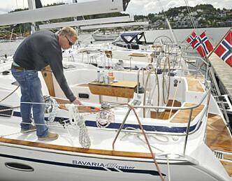 De første båtene på plass
