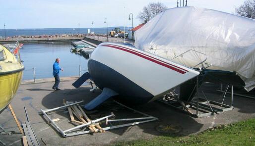 Veltet under båtpussen