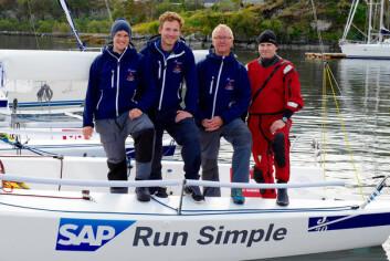 TEAM FLORØ: Ved å bli nummer fem i kvalifiseringen i Ålesund ble laget fra Florø Seilforening klar for seilsportsligaen.
