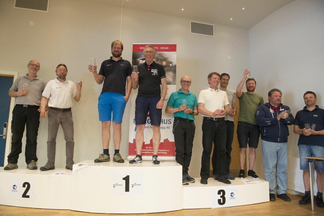 TIL TOPPS: Torkjell Tolo og Harald Matland gikk ikke bare til topps i Norgeshus Seilmakeren Doublehanded. Nå topper de også listen over Årets Shorthanded-seilere 2016.