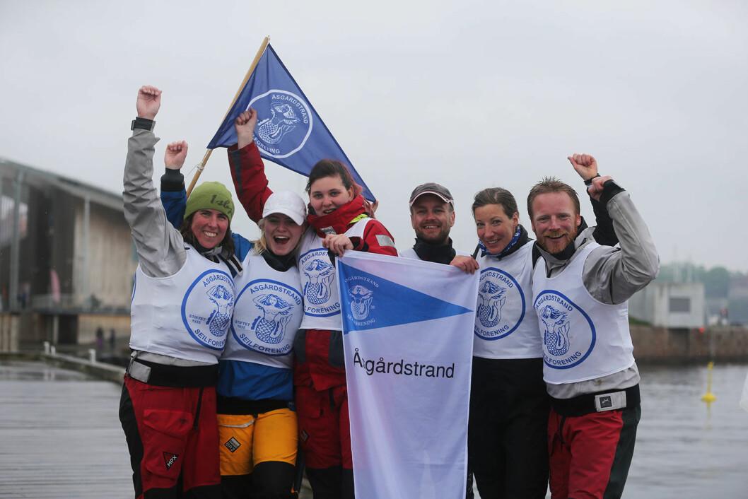 VANT 1. RUNDE: Laget fra Åsgårdstrand vant første runde i seilsportsligaens 1. divisjon.