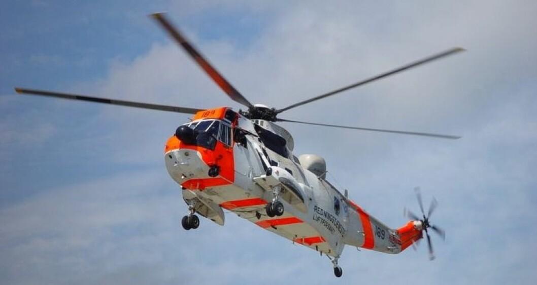 Espen Fjærestad ble berget av et Sea King redningshelikopter 15 nautiske mil vest av Bømlo.Arkivfoto
