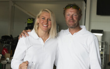 BESTE KVINNE: Marthe Olsen ble nummer to i Seapilot 2Star sammen med faren Truls, og er best av jentene så langt i år.