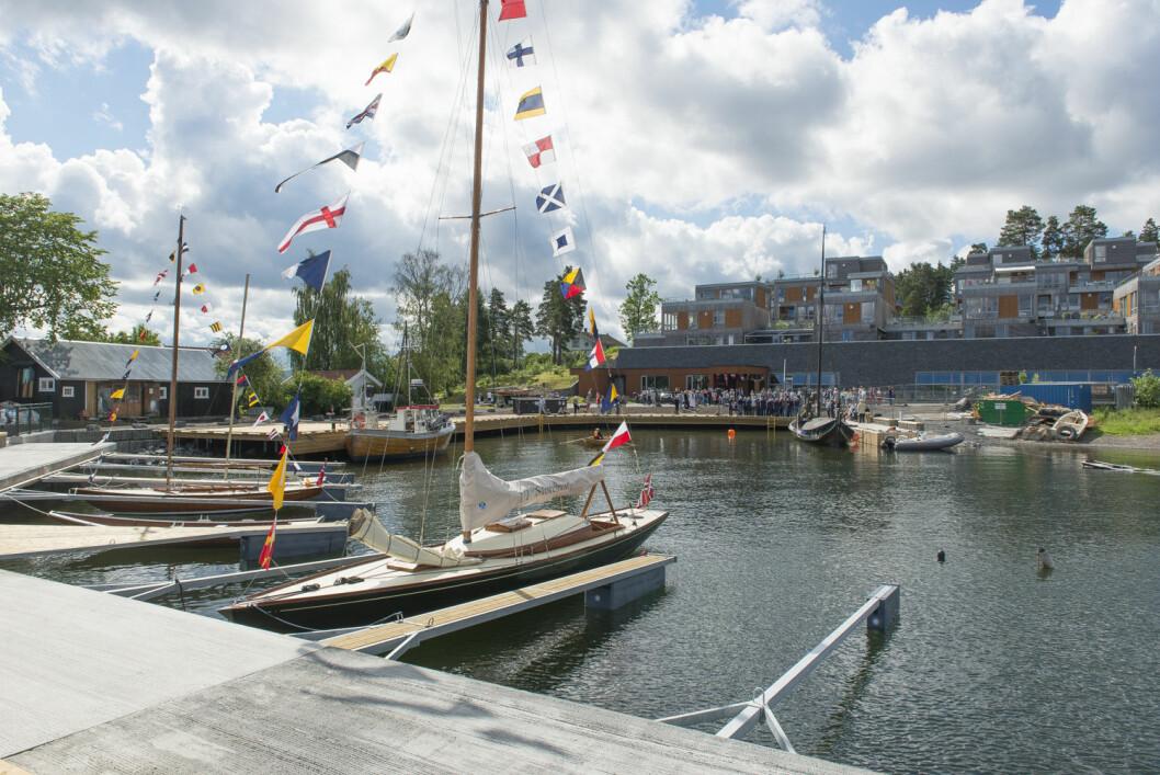MUSEUMSHAVN: Oslofjordmuseet innviet sin nye havn 27. juni.