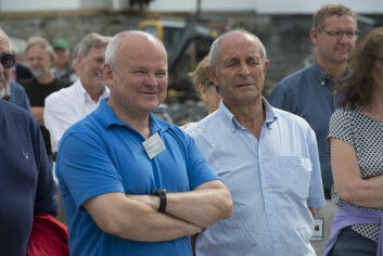 TO SENTRALE PERSONER: Leder av Oslofjordmuseet, Tron Wigeland Nilsen (t.v.) og Nils Otto Holmen har vært svært sentrale i å få realisert den nye havnen.