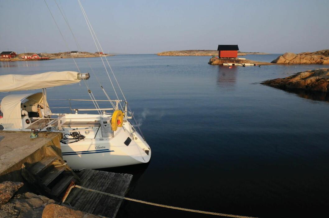 SEILTUR: Det å komme frem og til havn er også en viktig del av seilturen.