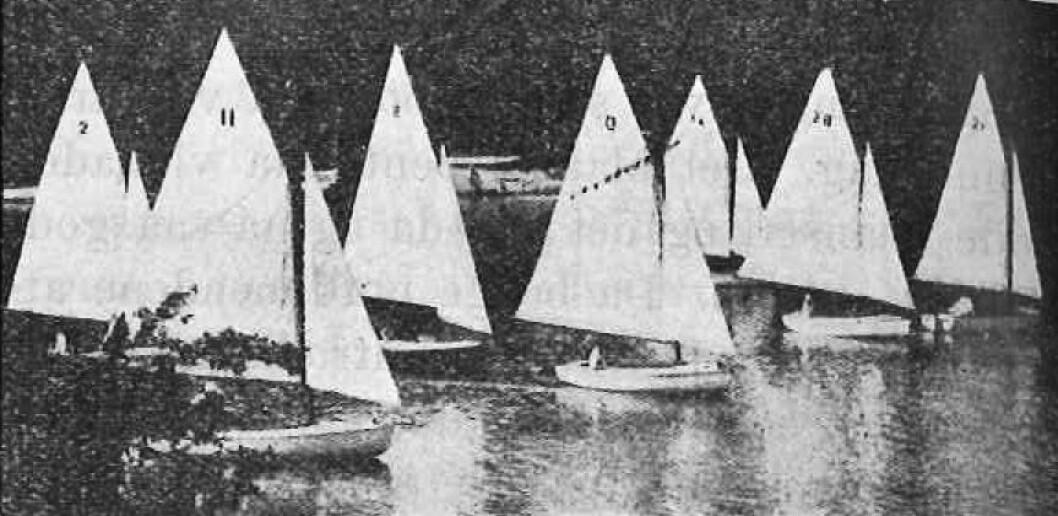 PÅ SEINEN: For første gang i OL-historien skulle det seiles i en jolleklasse, og seilasene ble utkjempet på Seinen rett utenfor Paris.