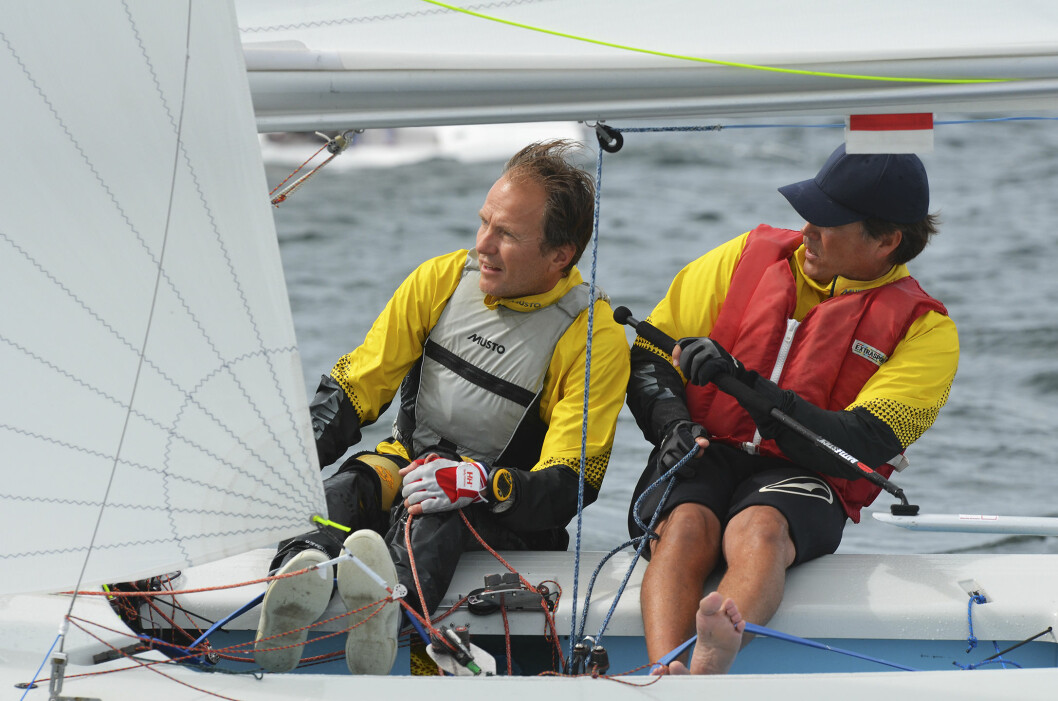 MASTER-MESTRE: To år på rad har Kristoffer Spone og Christen Horn Johannessen tatt NM-gull i Snipe Master.
