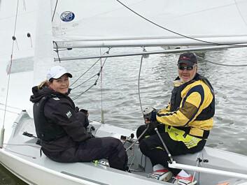 GULL: Anne-Line Sundal og Geir Victor Svendsen vant til slutt gull etter en spennende innspurt.