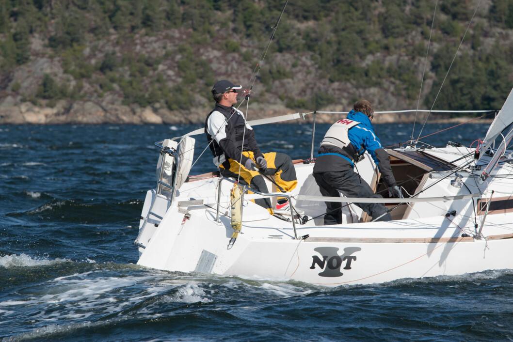 FORSVARERE: Magne Klann og Karl-Einar Jensen stiller til start i Bergen for å forsvare NM-tittelen i shorthanded-seiling.