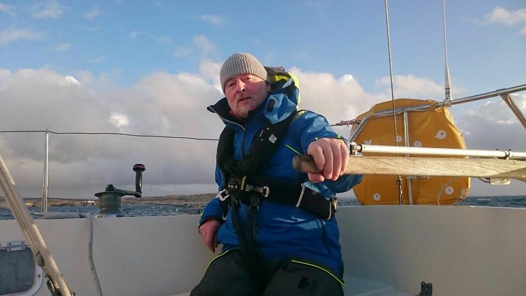 SOLOREKORD: Are Wiig er innehaver av solorekorden mellom Skagen og Færder.