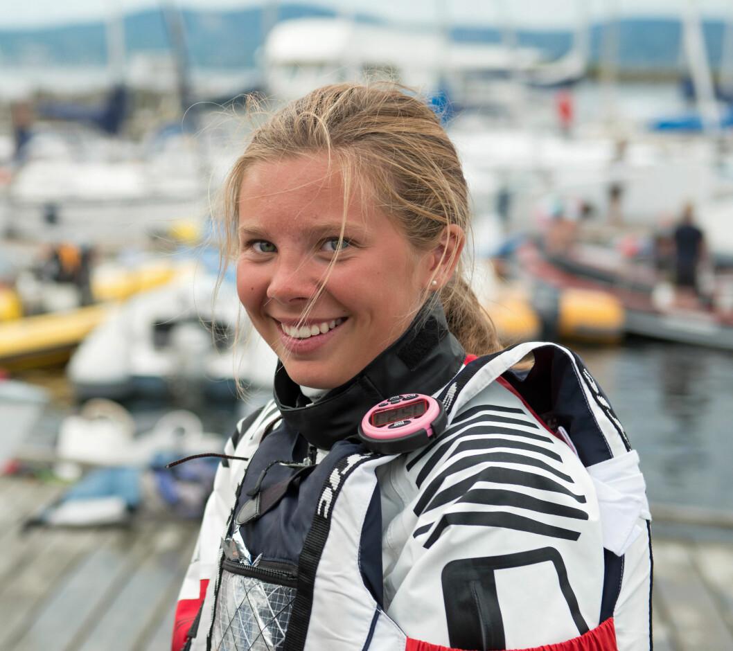 NC-GRUPPE: Sarah Thodesen har med sine to NM-gull vært i føringen i Bundefjorden Seilforenings NC-gruppe.