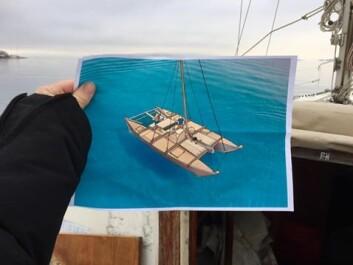 BAREBARE: Katamaranen «Barebare» er under bygging og skal ut på de syv hav.