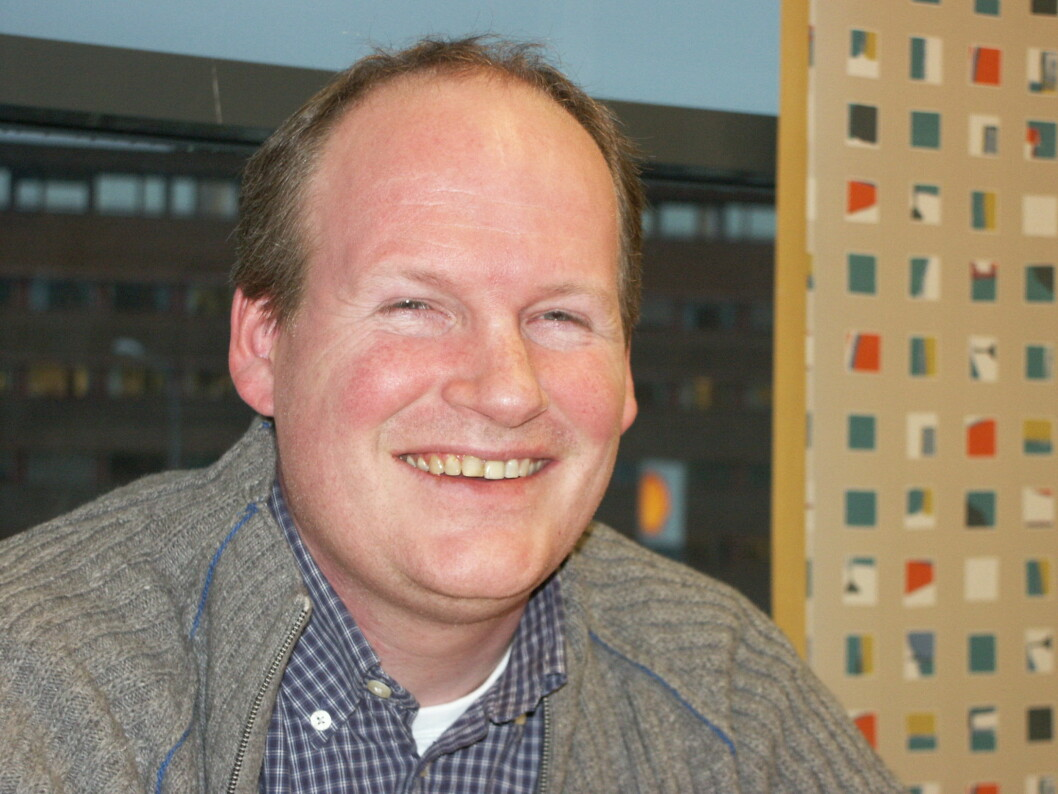 Henrik Næss, entusiastisk merkdessjef som begynte jobben sin i NSF igår.