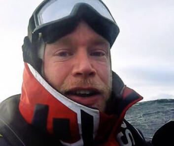 TRENER: Erik Martin Aanderaa oppsøker tøft vær for å trene. Det gjør at han er forberedt når vanskelige situasjoner dukker opp.