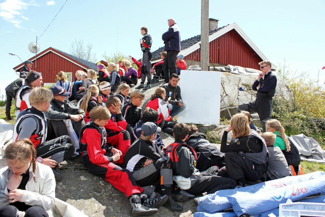 REKRUTTERING: Rekrutteringen har alltid stått i høysetet i Tønsberg Seilforening, og det vil være tilfellet også i 2017.