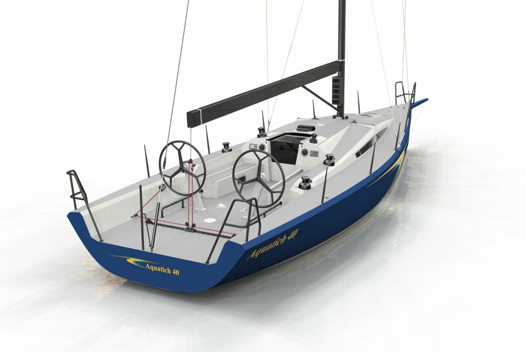 AQUATICH 40: Denne båten er blitt utviklet i Norge i samarbeid med Humphreys Yacht Design og skal delta i ORCi-EM i Polen.