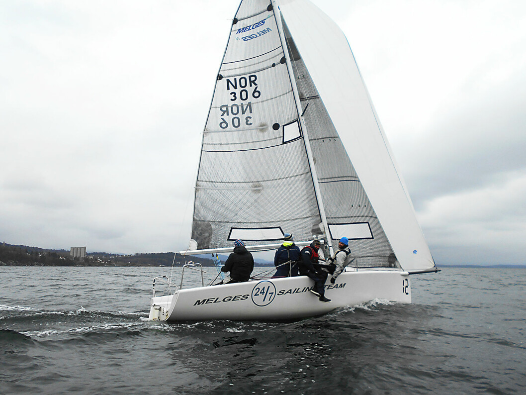 VANT: Melges-laget «24/7 Sailing Team» vant Påskeseilasen.