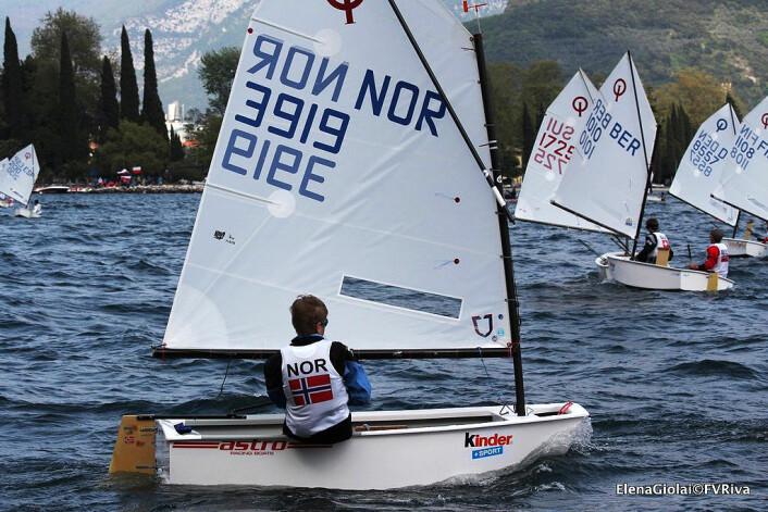 25. PLASS: Marcus Berthet fra KNS ble beste norske deltager på Gardasjøen i påsken.