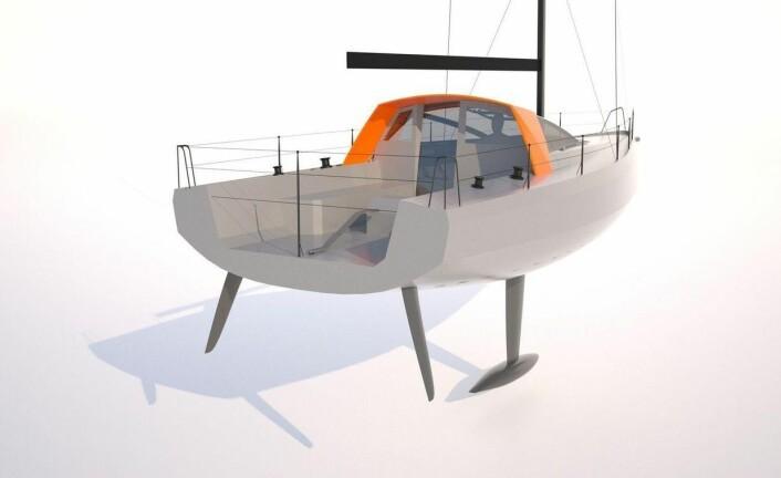 ÅPEN: Cockpiten blir svært dyp. Overbygget vil fungere som en sprayhood. Bente 39 får rorkultstyring.