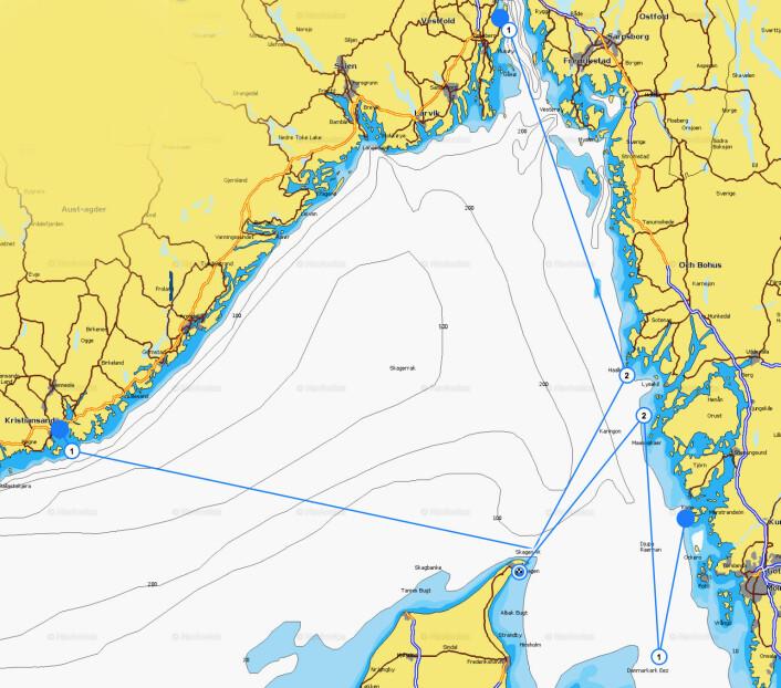 BANER: Skagen Race starter fra tre steder, Åsgårdstrand, Marstrand og Kristiansand.