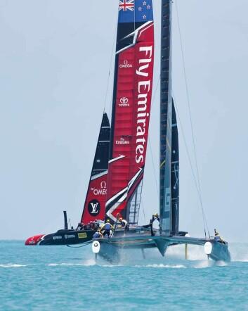 JEVNE: Artemis viste at de var på høyden med New Zealand rent fartsmessig i innledende runde.