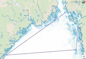 ETAPPE: Første etappe er på ca 160 nm. Fra start på Hankø, sydover til Tvedestarnd, over til Väderöarna, og opp til Strömstad.