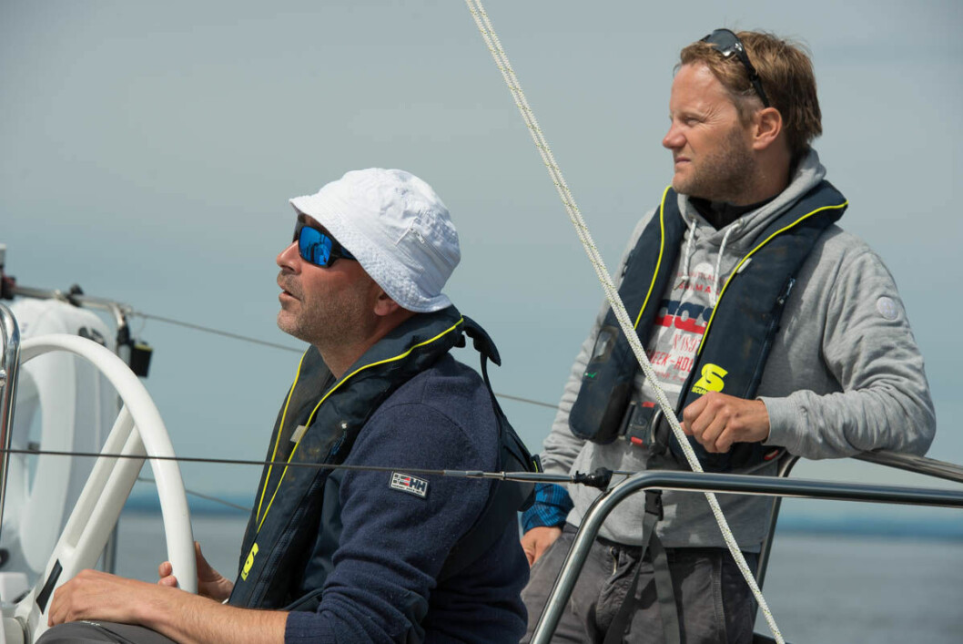RASKEST: Tim Sandberg og Sigmund Andre Hertzberg hadde raskeste seiltid ned til Kalvøybrottet.