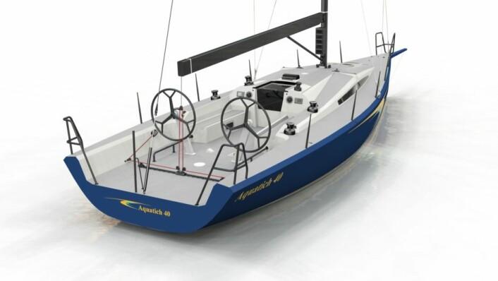 I SALG: Aquatich 40 vil bli bygd med hensyn på salg straks båt nummer en er ute av formene.