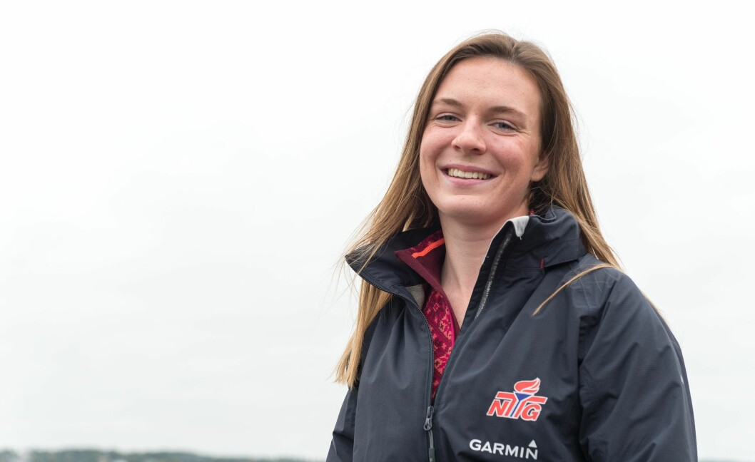 VANT: Caroline Rosmo vant Laser Radial-klassen med over 100 deltagere i Kieler Woche.