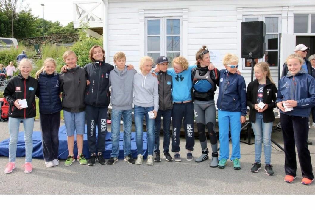 De norske seilerne i EM og VM for Optimistjoller i 2017