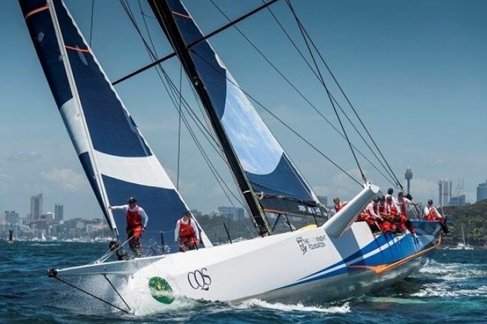 RASK: Ludde Ingvalls CQS var bygget for å kunne slå «Wild Oats» i Sydney Hobart Race. Nå er båten i Sverige.
