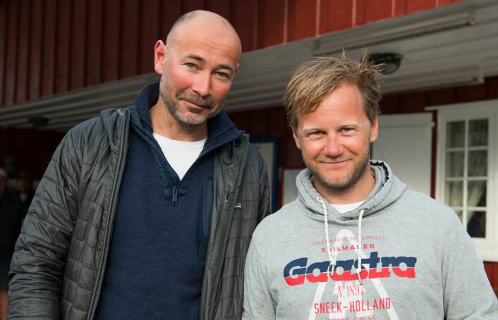 UTFORDRERE: Tim Sandberg (t.v.) og Sigmund André Hertzberg er de største utfordrerne til Elling og Øyvind Rishoff i konkurransen om å bli Årets Shorthanded-seiler.
