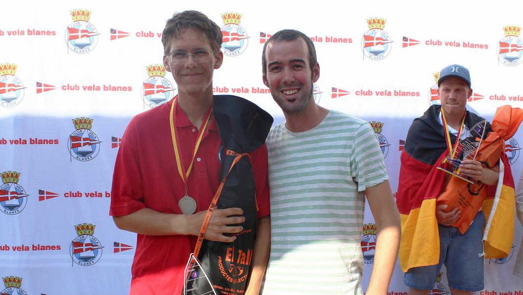 GULL OG SØLV: Lars Johan Brodtkorb (t.v.) sammen med verdensmesteren Sven Stadel Seiler. Bak til høyre bronsevinneren Fabian Kirchoff.
