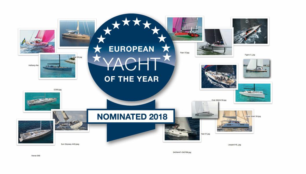 NOMINERT: 15 båter er nominert i fem ulike kategorier for Årets Båt i Europa 2018.