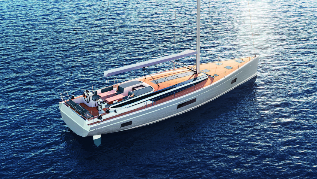 NY: Bavaria C65 blir verftets største. Båten er andre modell ut i C-serien.