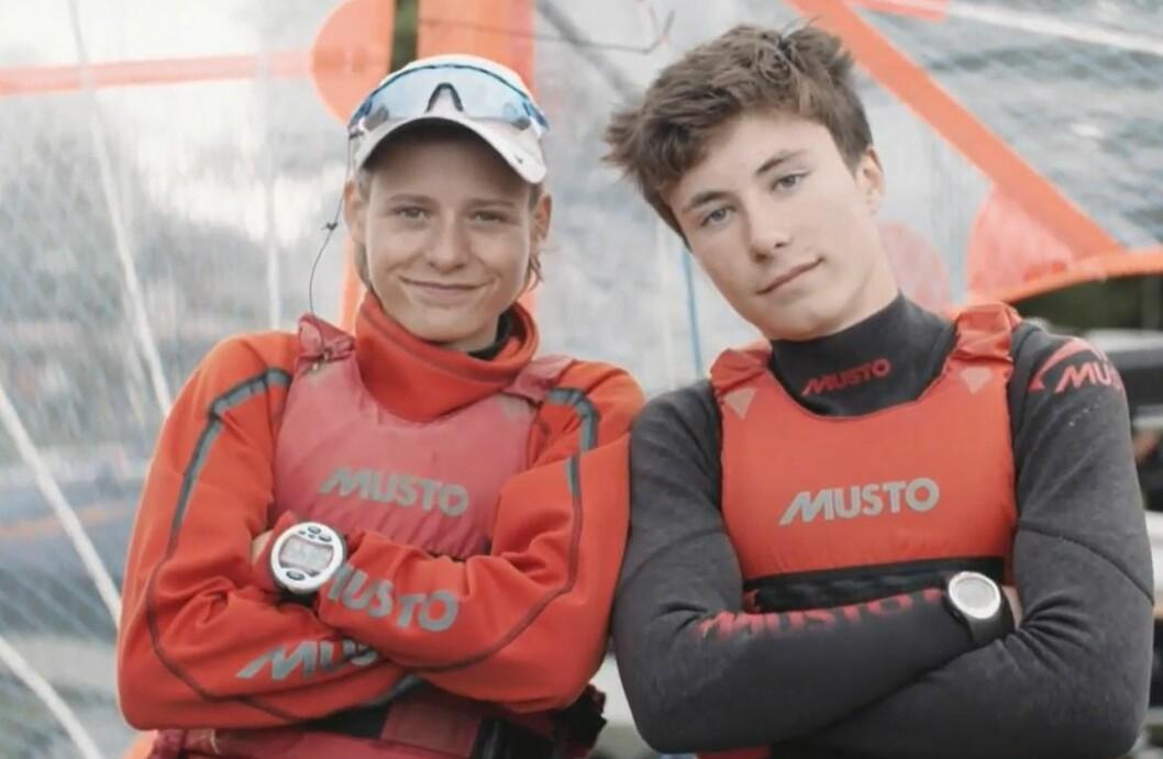 Mathias Berthet og Alex Frank-Penty gjør det bra i 29er EM