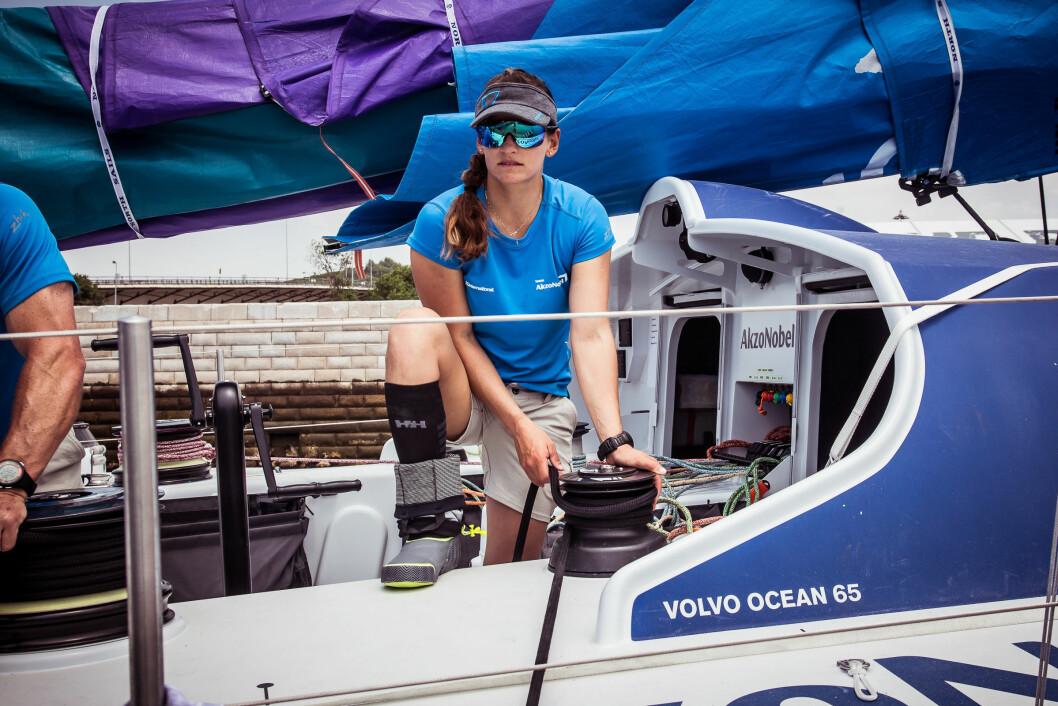 FRA 49ER FX TIL VOLVO OCEAN RACE: Martine Grael fra Brasil, som vant OL-gull på hjemmebane i Brasil, forsøker seg nå i Volvo Ocean Race.