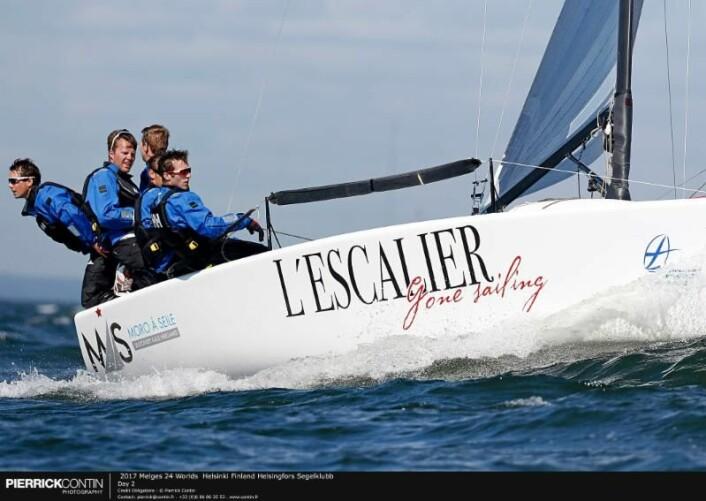 De unge seilerne på MÅS Wolfpack laget imponerer i VM